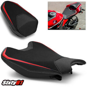 Honda CBR1000RR Seat Covers 2017 2018 2019 Luimoto Front Rear Red White Stitch