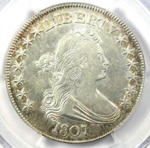1807 Draped Bust Half Dollar 50C Coin - Certified PCGS XF Details (EF) - Near AU
