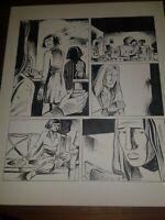 Manning Town Indie Comics rare original page Paul Sharar Big Bang Clock