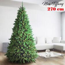 Albero Di Natale 270cm New Tiffany Super Folto 2243 Rami Pino Verde Base a Croce