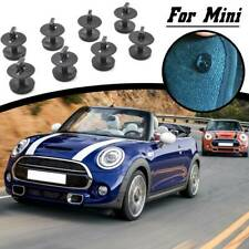 8x Car Floor Mat Fixing Clips Clamps Grips Fasteners Twist Type For BMW Mini