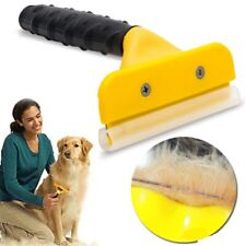 More details for pet dog & cat deshedding grooming tool brush rake comb stainless steel s /m/ l