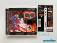 TEKKEN 3 + Spine Card PS1 Sony Playstation JAPAN Ref:310786