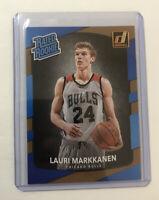 2017-18 Panini Donruss Basketball Rated Rookie Card #159 LAURI MARKKANEN RC