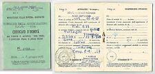 Roma 1957 - Min. della Difesa- Esercito - Scuola Genio Pionieri rilascio patente