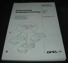 Werkstatthandbuch Opel Corsa B Tigra Astra F Diebstahlwarnanlage ab Modell 1995
