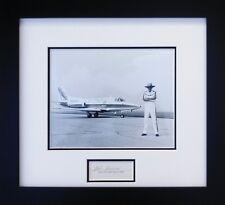 "R.A. ""Bob"" Hoover with his Sabreliner - w/ Autograph of Pilot Bob Hoover"