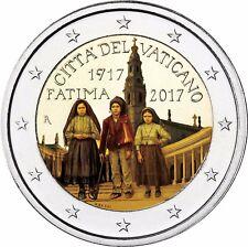 2 Euro Münze Erscheinung von Fatima - Vatikan Gedenkmünze 2017 in Farbe