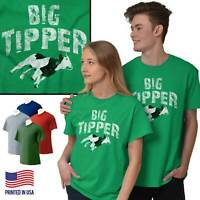 Big Tipper Money Cash Cow Funny Pun Humor Short Sleeve T-Shirt Tees Tshirts