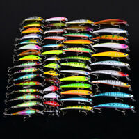 53pcs 7 Models Fishing Tackle Assorted Minnow Lure Crank Bait Fishing Lures