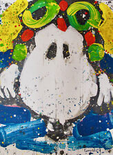 TOM EVERHART ACE FACE Hand Signed Limited Edition Lithograph SNOOPY PEANUTS