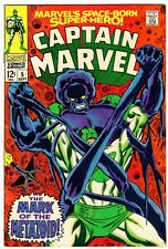 Captain Marvel 5 Early Carol Danvers (Ms. Marvel)! Vf (8.0) Ronan Story! 1968