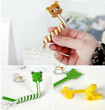 10 pieces Cartoon Earphone Wire USB Cable Cord Winder Organizer Wire Cable Holde