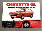 1976 Vauxhall GM Chevette Original 1-page Car Sales Brochure Leaflet Card
