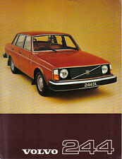 Volvo 244 Saloon DL GL 1976-77 Original Sales Sheet 1977