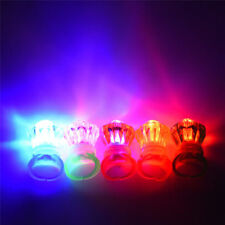 120 x LED Flashing Ring Finger Shiny Children Party Light up Glow in the dark DP