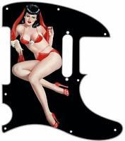 Telecaster Pickguard Custom Fender Tele 8 Hole Guitar Pick Guard Pin Up 7 Black