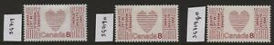 Canada 1972 Heart Disease SG 719, 719o, 718qo Mounted Mint  #M023