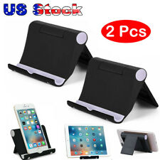 Universal Foldable Cell Phone Desk Stand Holder Mount Cradle for iPhone Tablet -
