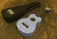 Mahalo Light Blue Soprano Ukulele / Uke Fitted With Aquila Strings & Case