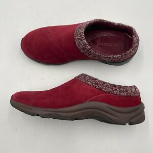 Vionic Shoes Women's Size 9 Arbor Slip On Leather Suede Clogs Mule 1st Ray Red