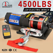 12V Wireless Electric Winch 4500LBS / 2041Kg ATV 4wd Boat 12Volt Synthetic Rope
