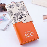 Womens Leather Wallet Envelope Long Handbag Lady Clutch Purse Button Card Holder