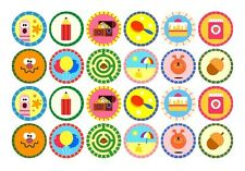 24 HEY DUGGEE EDIBLE WAFER RICE PAPER CUPCAKE CUP CAKE DECORATION IMAGE TOPPERS