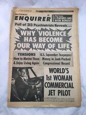 National Enquirer June 30 1968 Violence Front Cover Vintage Tabloid Newspaper