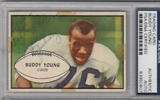 Buddy Young Signed 1953 Bowman #30 Autographed Colts PSA/DNA 83950807