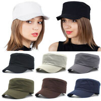 Adjustable Classic Army Plain Vintage Hat Cadet Military Cap Unisex Baseball Hat