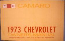1973 Chevrolet Camaro Owners Manual Original Z/28 Rally Sport LT Chevy 73