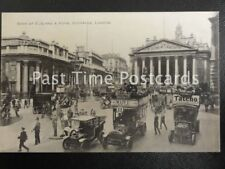 Old PC LONDON Bank of England & Royal Exchange, Old No 11 Bus, TATCHO, Old Cars