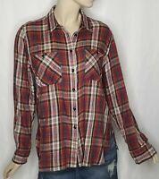 Denim & Supply Ralph Lauren Women's Red Plaid Utility Cotton Shirt Size XL