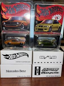 Hot Wheels Red Line Club RLC Lot (6) Cars Limited Edition Benz C10 Datsun BMW