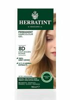 HERBATINT HERBAL NATURAL HAIR DYE LIGHT GOLDEN BLONDE 8D 150ml - AMMONIA FREE