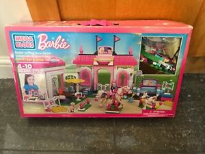 Mega Bloks Barbie Build N Play Horse Stable 80246USED Rare Collectable