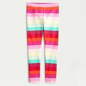 Crewcuts Girls Rainbow Striped Leggings SIZE 4-14 GIRLS NWOT
