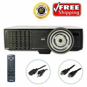 ViewSonic PJD6383s DLP Projector Short-Throw 3000 Lumens HDMI HD - bundle