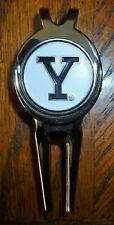 "Yale University 1"" Golf Ball Marker NCAA 2 sided & Short Divot Tool w/Clip"