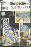 Variable Star & Log Cabin Blocks Quilt Club Simplicity 9169 Sewing Pattern