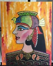 """QUEEN"" Oil Painting Fine Art With Glitters on canvas"