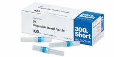 J Morita Disposable Dental Needles 30 Ga short w/ Plastic Hub 100/Box FDA