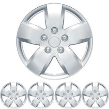 "4 PC Set 16"" Silver Hubcaps Wheel Cover OEM Replacement Wheel Skin"