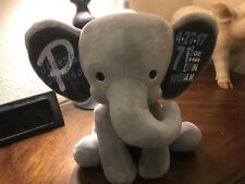 Baby Elephant Birth Announcement. Stuffed Elephant.Baby Announcement
