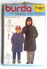 4)Patron Burda n°7187; Manteau Taille 3 à 16 ans
