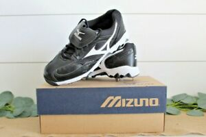 New Mizuno 9 Spike Vintage Low G5 320288 Baseball Cleats Mens 8 Black/White