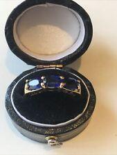 9ct 375 9K Stunning Tibetan Kyanite Gold Ring Size N Hallmarked