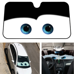 Aluminium Foil Eyes Pattern Car Windshield Sun Shade Front Window Visor Anti-UV
