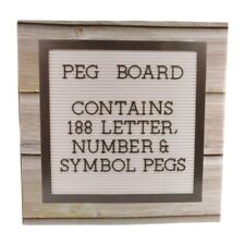 Peg Board Contains 188 Letter Number & Symbol Pegs Wall Plaque Gift Idea